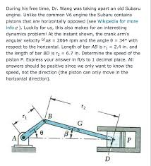 subaru engine diagram during his free time dr wang was taking apart an chegg com