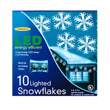 Lighted Snowflakes Outdoor by Celebrations Led Snoflake Dangler Lights Specialty Holiday