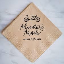 wedding napkins adventure awaits wedding napkins gracious bridal design house