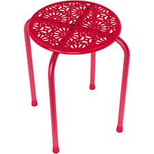 atlantic daisy metal side table stool set of 2 multiple colors