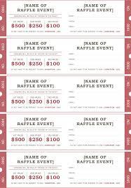 raffle ticket template 2 positively printable pinterest
