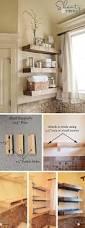 Decorating Bathroom Shelves 19 Master Rustic Diy Storage And Decor 18 Diy Wooden Floating