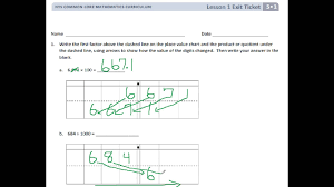 engageny 5th grade module 1 lesson 1 exit ticket youtube