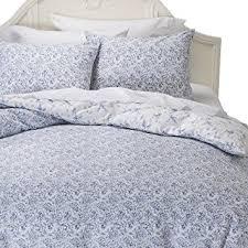 amazon com simply shabby chic batik indigo blue floral duvet set