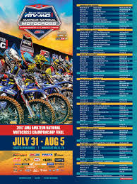 pro motocross schedule 2017 amateur national motocross championship dates announced