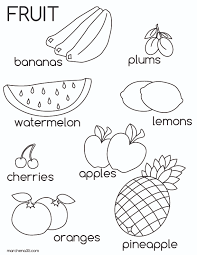 a z coloring pages fruit pictures for kids az coloring pages educational
