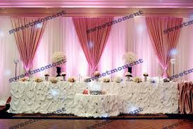 wedding backdrop curtains for sale 3x6m luxury sheer wedding curtain with hot pink drape wedding