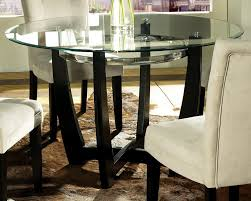 Dining Room Brilliant Modern Table Idea Using Round Glass Tabletop - Brilliant small glass top dining table house
