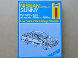 nissan datsun sunny haynes owners workshop manual 1982 to 1986