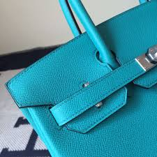 discount hermes epsom leather birkin bag 30cm in peacock blue