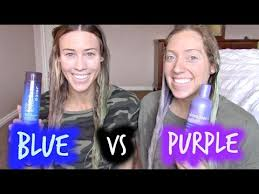 over the counter purple hair toner purple vs blue shoo what should you be using on you hair