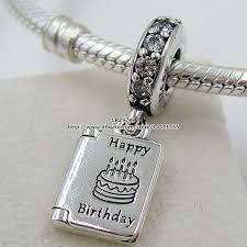 2017 925 sterling silver birthday wishes dangle charm bead with