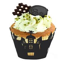 Halloween Decorations For Cakes by 12pcs Cupcake Wrappers Liners For Halloween Decoration Laser Cut