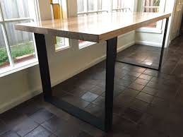 Steel Dining Table Legs Dining Tables Modern Reclaimed Wood Dining Table Farmhouse