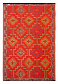 Orange Outdoor Rugs Fab Habitat 3 By 5 Lhasa Indoor Outdoor Rug
