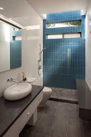photos hgtv blue tile accent wall modern bathroom with polished