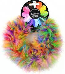 feather fluffy craft boa 7 gram 1 yard gum balls 1