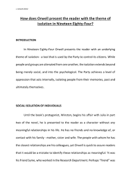 theme essay for 1984 essay the theme of isolation in 1984 by george orwell by