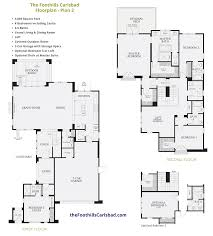 4 bed floor plans floor plans u0026 elevations the foothills at carlsbad