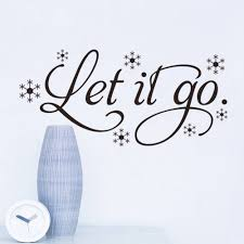 Frozen Home Decor Frozen Let It Go Snow Wall Decals Home Decoration Quote Wall