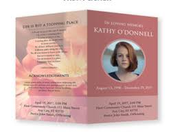 Programs For Funeral Services Funeral Program Template Funeral Program For Memorial Order