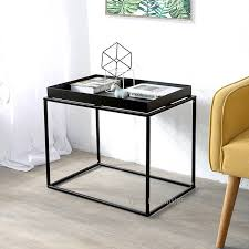 small sofa side table minimalist modern design metal steel loft tray side table fashion