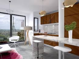cuisine classique chic aménagement chic marbre de carrare mosaïque placage bois