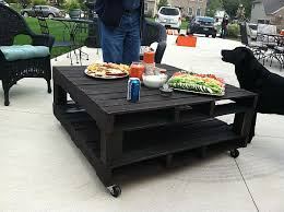 Pallet Coffee Tables Black Pallet Coffee Table