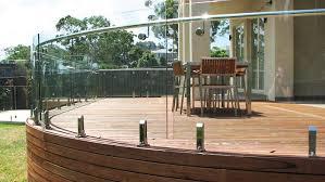 balcony railings with framed or frameless glass railings pool
