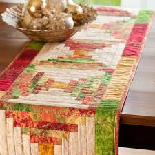 Holiday Table Runners by Christmas Cabin Table Runner Allpeoplequilt Com