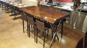 Rustic Bar Table Handmade Rustic Wood Dining Tables Wood Fusion