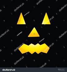 scary faces halloween pumpkin stock illustration 226880071