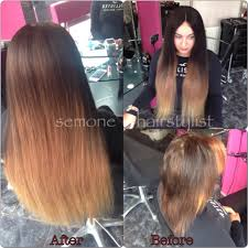 Blonde Weft Hair Extensions by Afro Black Hairdresser Wood Green Brazilian Weave North London