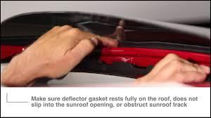 nissan juke wind deflectors weathertech sunroof wind deflector install video youtube