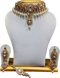 choker style necklace sale images Buy shining diva kundan pearl choker traditional necklace jpg