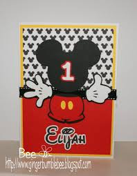 Mickey Mouse 1st Birthday Card Beehive Bits And Pieces Mickey Mouse 1st Birthday Card