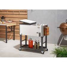 home depot stainless steel table carts islands utility tables kitchen the home depot
