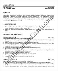 Operations Assistant Resume Example Of A Cover Letter For An Executive Assistant
