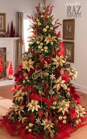 271 best red green christmas images on pinterest christmas a beautiful way to decorate your christmas tree deco mesh artificial gold poinsettias flower sprays and ornaments red and gold always goes elegantly
