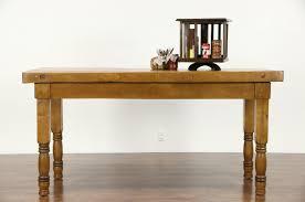 sold butcher block 1910 antique maple 6 u0027 work table kitchen