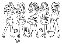 girls coloring she image gallery lego friends coloring book at