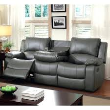 Gray Recliner Sofa Gray Leather Reclining Sofa Sectional Grey Recliner And