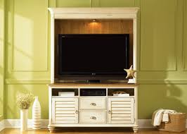 ocean isle 55 inch tv entertainment center in bisque with natural