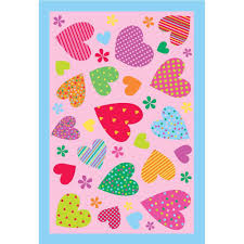 Kids Pink Rugs by La Rug Fun Time Shape Moon U0026 Stars Yellow Blue And White 31 In