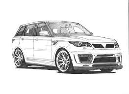 Dodge Journey Body Kit - sketch of body kit for the new range rover sport aspire www