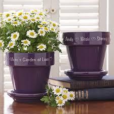 personalized flower pot personalized flower pots purple ceramic gifts