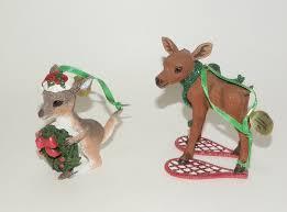 danbury mint baby animal christmas ornaments moose and kangaroo