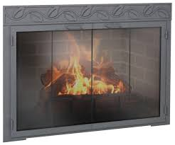 fireplace screen with glass doors fireplace doors design specialties legend rectangle custom made