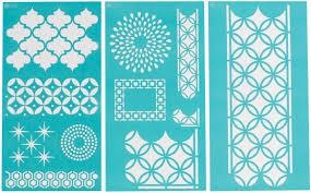 arabesque designs martha stewart large stencils 3 sheets pkg a