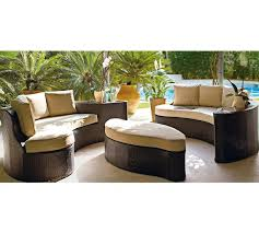 Rattan Settee Buy Collection Rattan Effect 6 Seater Patio Sofa Set 2 Sofas At